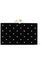Charlotte Olympia Fresh Pandora embellished Perspex box clutch