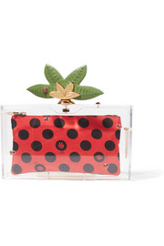 Charlotte Olympia Lucky Pandora embellished Perspex clutch