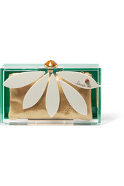 Charlotte Olympia Pandora Loves Me Perspex clutch