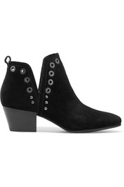 Rubin embellished suede ankle boots