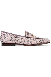 Sam Edelman Loraine leather-trimmed printed canvas loafers