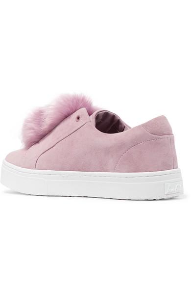 d8f008259103a8 Sam Edelman. Leya faux fur-embellished suede slip-on sneakers.  50. Zoom In