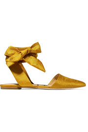 Brandie satin point-toe flats