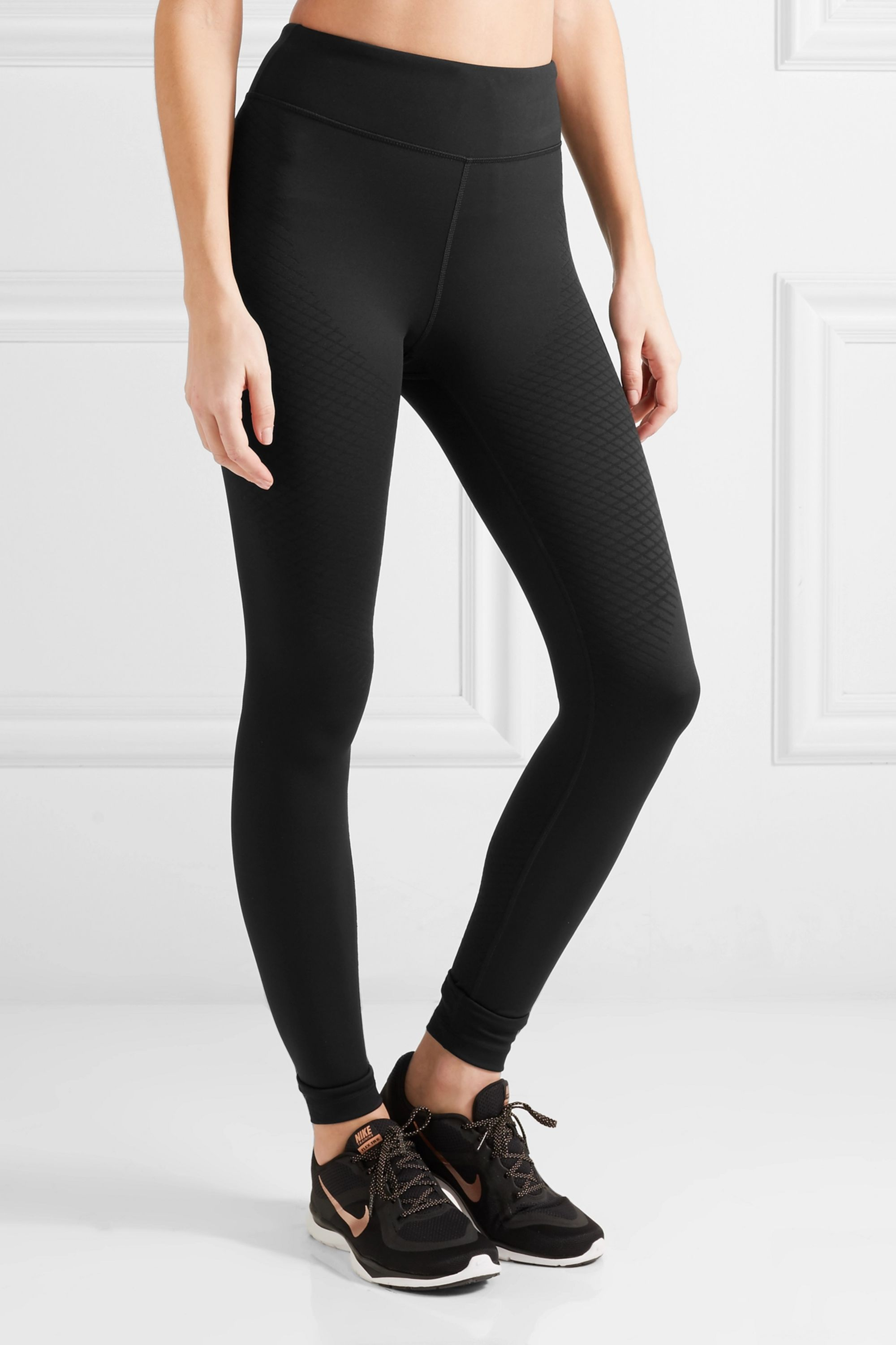 Nike Zoned Strength paneled stretch-jersey leggings