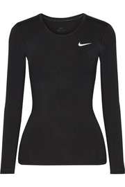 Nike Pro Cool mesh-paneled Dri-FIT stretch-jersey top