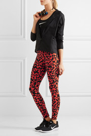 Nike Printed stretch cotton-jersey leggings