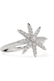 Rhodium-plated cubic zirconia ring
