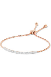 Stellar Pave Mini Bar rose gold vermeil diamond bracelet
