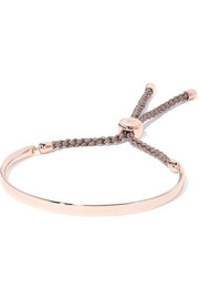 Fiji rose gold-plated and woven bracelet