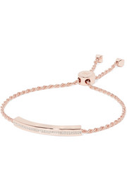 Linear rose gold-plated diamond bracelet