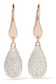 Stellar rose gold vermeil diamond earrings