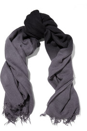 Ombré cashmere and silk-blend scarf