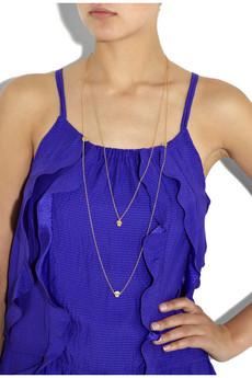 Daisy KnightsKim gold vermeil skull necklace