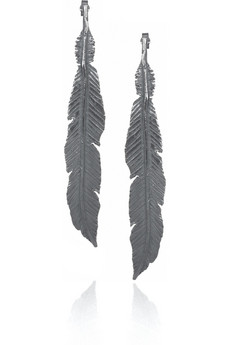 Daisy%20Knights Lornie%20oxidized%20silver%20feather%20earrings