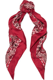 Saint Laurent Printed silk-twill scarf