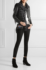 Saint Laurent Polka-dot cashmere and silk-blend scarf