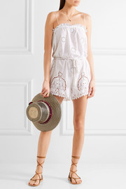 Peggy cotton and lace playsuit
