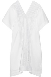 Bianca linen and crocheted cotton kaftan