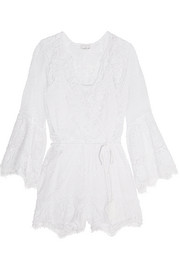 Genie crocheted cotton playsuit
