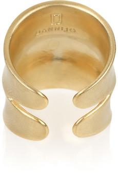 DannijoJacinda 14-karat gold-plated ring