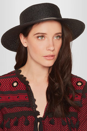 Colette faux pearl-embellished hemp sunhat