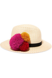 Eugenia Kim Lillian pompom-embellished straw hat