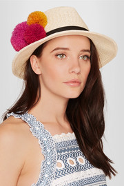 Lillian pompom-embellished straw hat