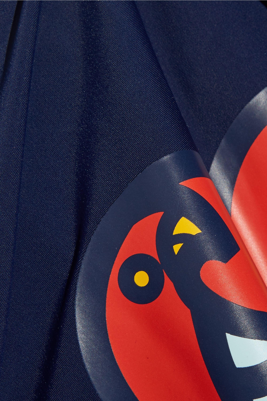 Tory Burch Macaw printed stretch-jersey rash guard