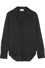 DKNY Stretch-silk satin shirt
