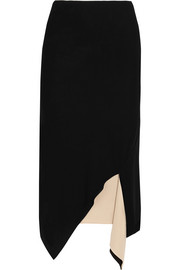 Reversible asymmetric jersey skirt