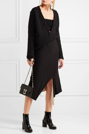 DKNY Reversible asymmetric jersey skirt