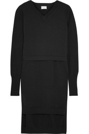 DKNY Layered cotton-blend tunic