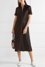 DKNY Satin shirt dress