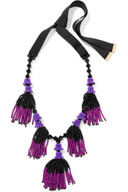 Etro Tasseled beaded necklace