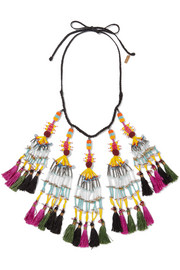 Etro Beaded tassel necklace