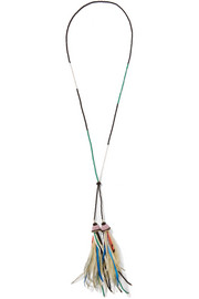 Etro Bead and feather necklace
