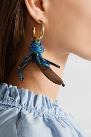 Marni Gold-plated, horn and cord earrings
