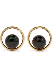 Marni Gold-tone, resin and horn earrings