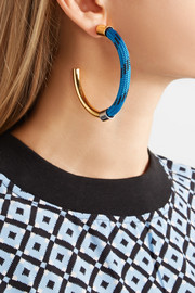 Marni Gold-tone cord earrings
