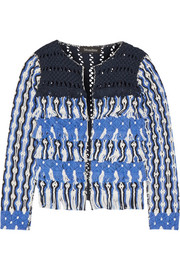 Anat fringed macramé cotton jacket