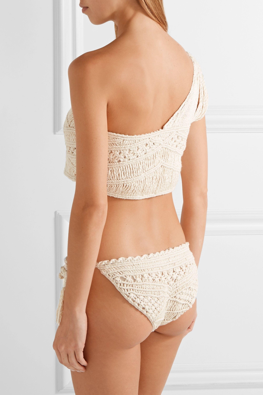 Tabula Rasa Hathor macramé silk and cotton-blend one-shoulder bikini