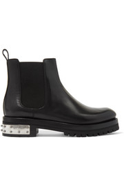 Alexander McQueen Embellished leather Chelsea boots