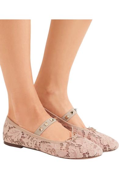 outlet store for sale sale official Valentino Lace Ballet Flats Mt4JvS42
