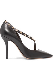 Valentino Rockstud two-tone leather pumps