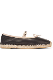 Valentino Studded leather espadrilles