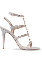 Valentino Rockstud patent-leather sandals