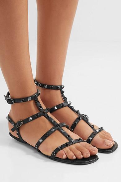 2263ac504495 Valentino Garavani The Rockstud leather sandals