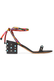Valentino Rockstud Rolling embellished leather sandals