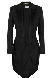 Saint Laurent Silk satin-trimmed wool tuxedo blazer