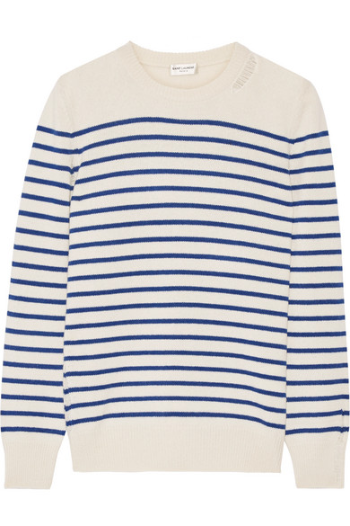 Saint Laurent - Striped Cashmere Sweater - Ivory